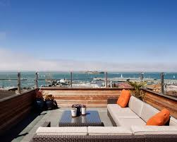 Russian Hill Upholstery Sensational Roof Deck Design For Home Fascinating Modern Rooftop