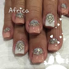 imagenes de uñas acrilicas con pedreria uñas acrílicas con piedras uñas africa pinterest uñas acrílico