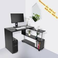 bureau ordinateur angle table d angle 360 rotatif bureau informatique en bois multifonction
