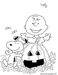 charlie brown halloween coloring pages printable