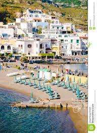 Ischia Italy Map by Beach With Umbrellas At Sant Angelo On Island Ischia Italy