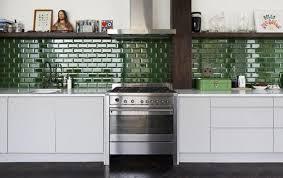 Green Tile Kitchen Backsplash Subway Tile Kitchen Backsplash Style Home Design Ideas Special