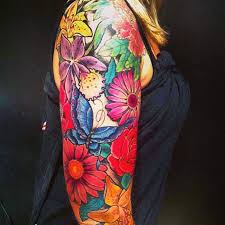 butterflies and flowers tattoos flowers and butterfly on