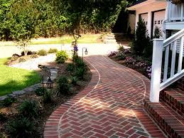 landscaping with bricks brick front yard landscaping