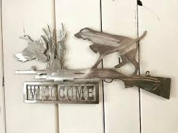 duck hunting welcome sign metal wall art home decor by