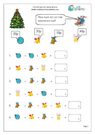 Decorate Christmas Tree Worksheet by Tree Decorations