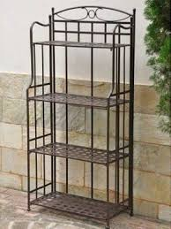 Large Bakers Rack Wrought Iron Bakers Rack Outdoor Foter