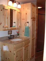 rustic pine kitchen cabinets cabin remodeling 05log panel vanity1 cabinetry kitchens and