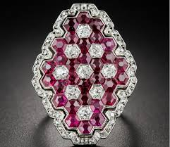 magnificent art deco ruby and diamond ring u2013 eyes desire gems and