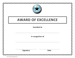 Free Certificate Of Excellence Template Certificate Template