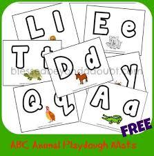 printable alphabet mat free abc animal playdough mats homeschool teaching phonics and school