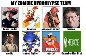 Zombie Team Meme - my zombie apocalypse team know your meme
