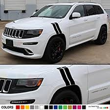 jeep grand cherokee stickers amazon com set of decal sticker vinyl racing fender hash stripes