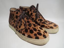 christian louboutin cheetah print chukkas shophousingworks