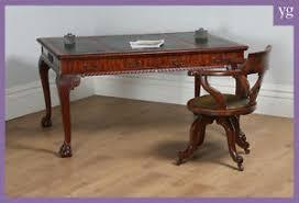 bureau ebay antique anglais géorgien chippendale style acajou cuir