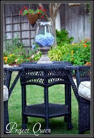 Blue Table Painting by Best 20 Painting Wicker Furniture Ideas On Pinterest Painting