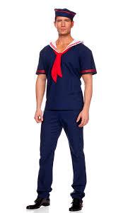 Costumes Men Halloween Mens Ahoy Sailor Costume Sailor Halloween Costume Sailor