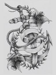 nice grey ink anchor tattoo design in 2017 real photo pictures