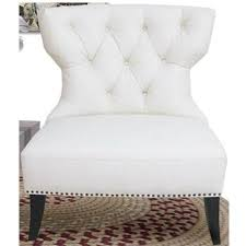 White Accent Chair Sofa Zoey Tufted Leather Accent Chair With Nailhead