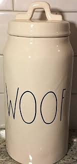 rae dunn amazon com rae dunn woof dog canister container by magenta