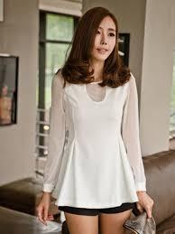 trendy blouses trendy back zipper neck white blouse