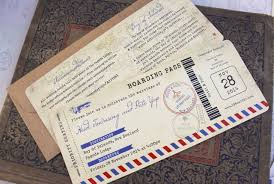 wedding invitations nz vintage air mail boarding pass wedding invitation new zealand