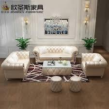 Leather Sofa Set On Sale Oshines Furniture Factory Direct Sale Wholesale Yellow Italian