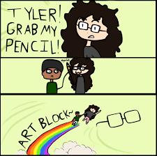 Tyler Meme - tyler grab my pencil x grab my y meme by killercool360 on deviantart