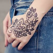 heart and flowers tattoo tattoo you temporary tattoo heart u0026 flowers