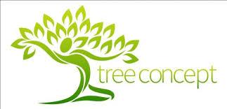 green tree logos vector graphic 06 vector logo free