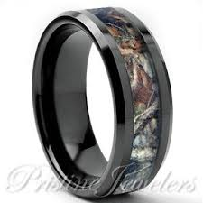 tungsten real oak forest camo ring brown mossy tree wedding band