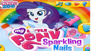 my little pony sparkling nails game mlp games for girls