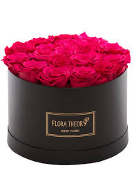 hot pink roses medium black box hot pink roses 300 floratheory