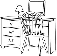dessin de bureau coloriage un bureau dory fr coloriages