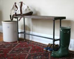 Industrial Bench Seat 17 Apart Over On Ehow Diy Industrial Entry Bench