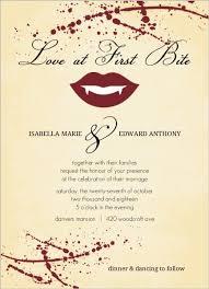 yellow rustic vampire love bite halloween wedding invitation