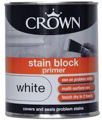 Crown Decorating Centre Jobs White Stain Block Primer Undercoat Crown Paints