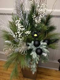 classy christmas modern urn arrangement pretty pots christmas