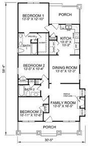 Bungalo Floor Plan Bungalow Style House Plan 3 Beds 2 Baths 1353 Sq Ft Plan 423 55