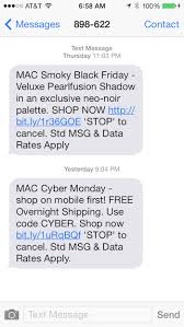 mac makeup black friday sale mobile marketing strategy examples u2013 black friday tatango