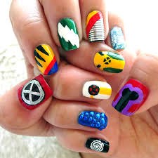 x men days of future past nail art throwback to the old comic