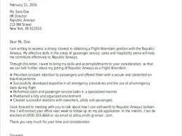 Sample Flight Attendant Resume 32 Cover Letter Examples For Flight Attendant Job Resume For