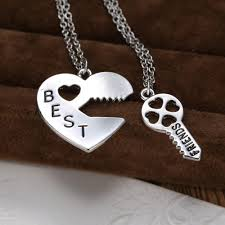 couples puzzle heart necklace images Personalized heart puzzle necklace silver heart lock and key jpg