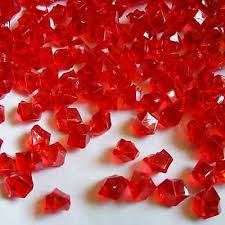 Vase Rocks 500pcs Acrylic Ice Rocks Red Small Stones Crystals Fish Tank
