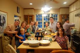 Family At Thanksgiving Dinner Genealogy And Thanksgiving A Truly Wonderful Combination Onward