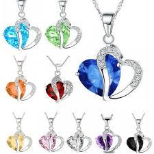 heart stone necklace pendants images Wholesaler pendant heart necklace silver lol cheap jpg