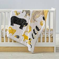 Black And Yellow Crib Bedding And Yellow Animal Print Crib Bedding And Quilt