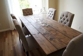 Rustic Wood Dining Room Table by Rustic Farmhouse Table Dark Brown Wooden Rectangular Table Dark