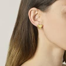 grande earrings 18kt yellow gold brillantissimo stud earrings grande paolo costagli
