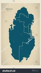 Doha Map Modern Map Qatar Municipalities Qa Stock Vector 341051831
